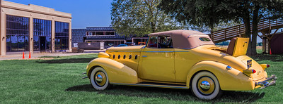 "This 1934 LaSalle convertible is ""officially"" the fifth vehicle to appear before the Cadillac-LaSalle Club Museum and Research Center at Gilmore. I made this image in support of the social m ..."
